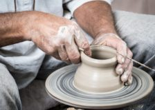 Pottery and a Pinch Pot