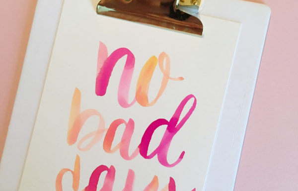Special Engagement: Modern Calligraphy and Watercolor Basics with Courtney Mattern