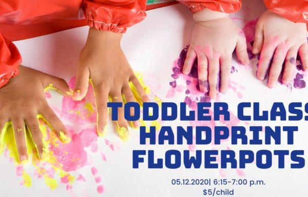 Toddler Class: Handprint Flowerpots