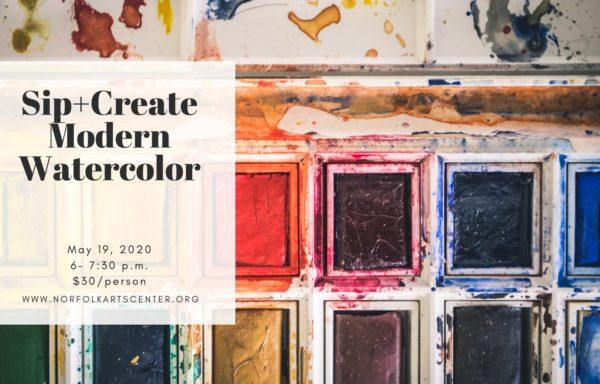 Sip+Create: Modern Watercolor