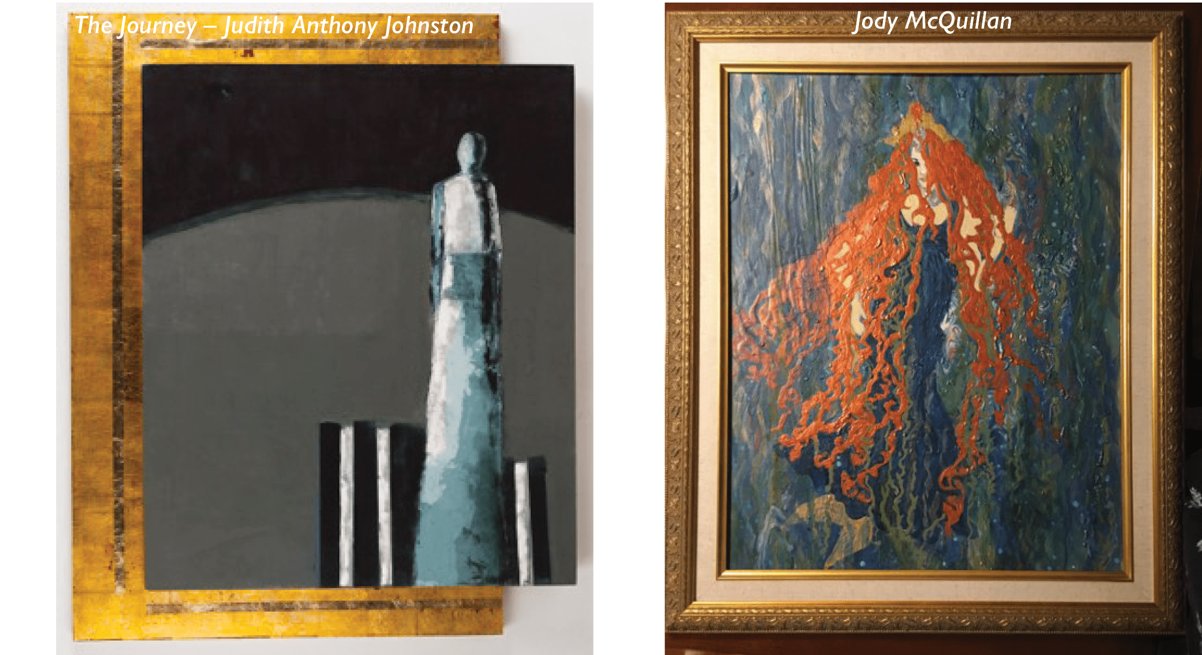 Art pieces by Judith and Jody