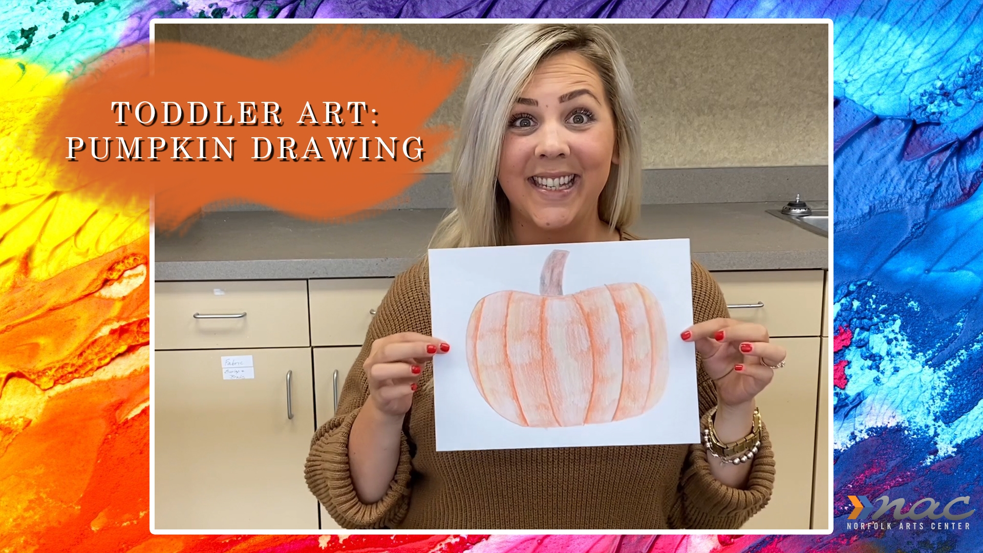 Toddler Art Pumkin Drawing