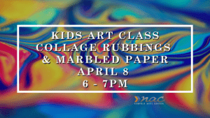 Kids Art Class   Collage Rubbings & Marbled Paper @ Norfolk Arts Center